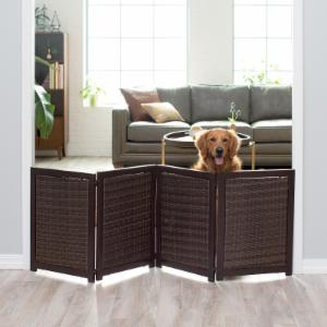 Boomer & George Tucker 4 Panel Indoor/Outdoor Wicker Pet Gate