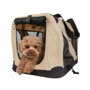 Pet Life 360-Degree Vista-View Soft Folding Collapsible Crate