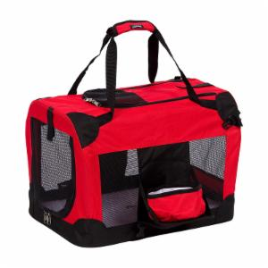 Pet Life Deluxe 360 Collapsible Pet Crate with Removable Bowl - Red