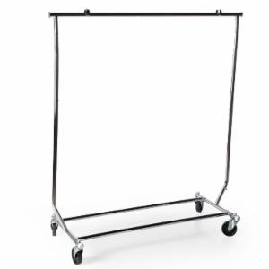 Heavy Duty 250 lb. Capacity Collapsible Steel Rolling Rack