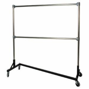 Quality Fabricators Heavy Duty Rolling Z Rack with 60 in. Uprights