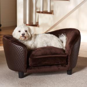 Enchanted Home Pet Ultra Plush Snuggle Bed - Brown Basketweave
