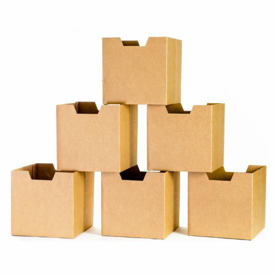 Sprout Cardboard Cubby Bins - 6 pack