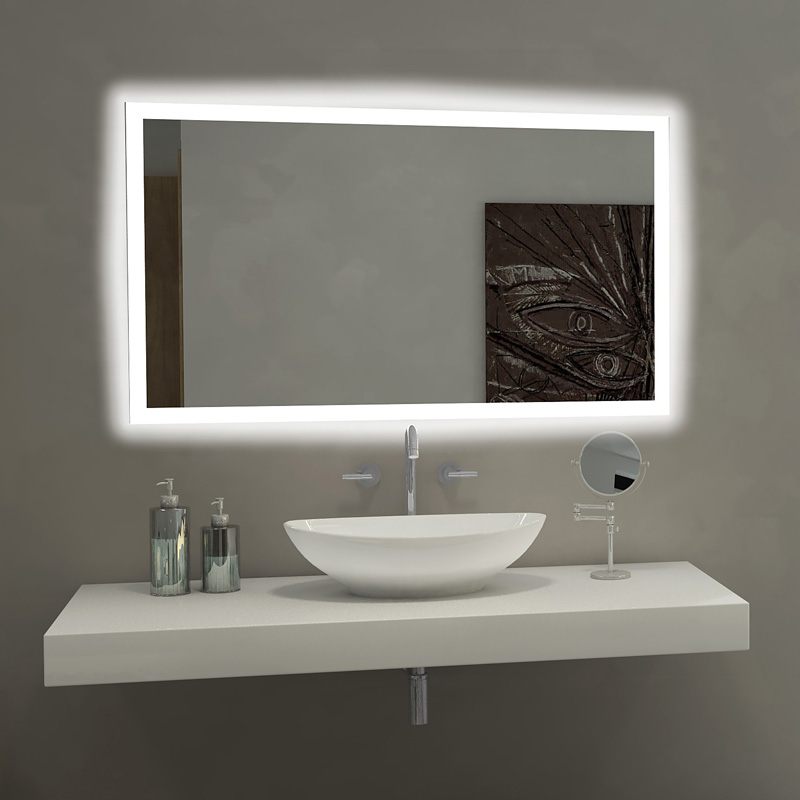 Beau Paris Mirror Rectangle Bathroom Mirror With LED Backlights