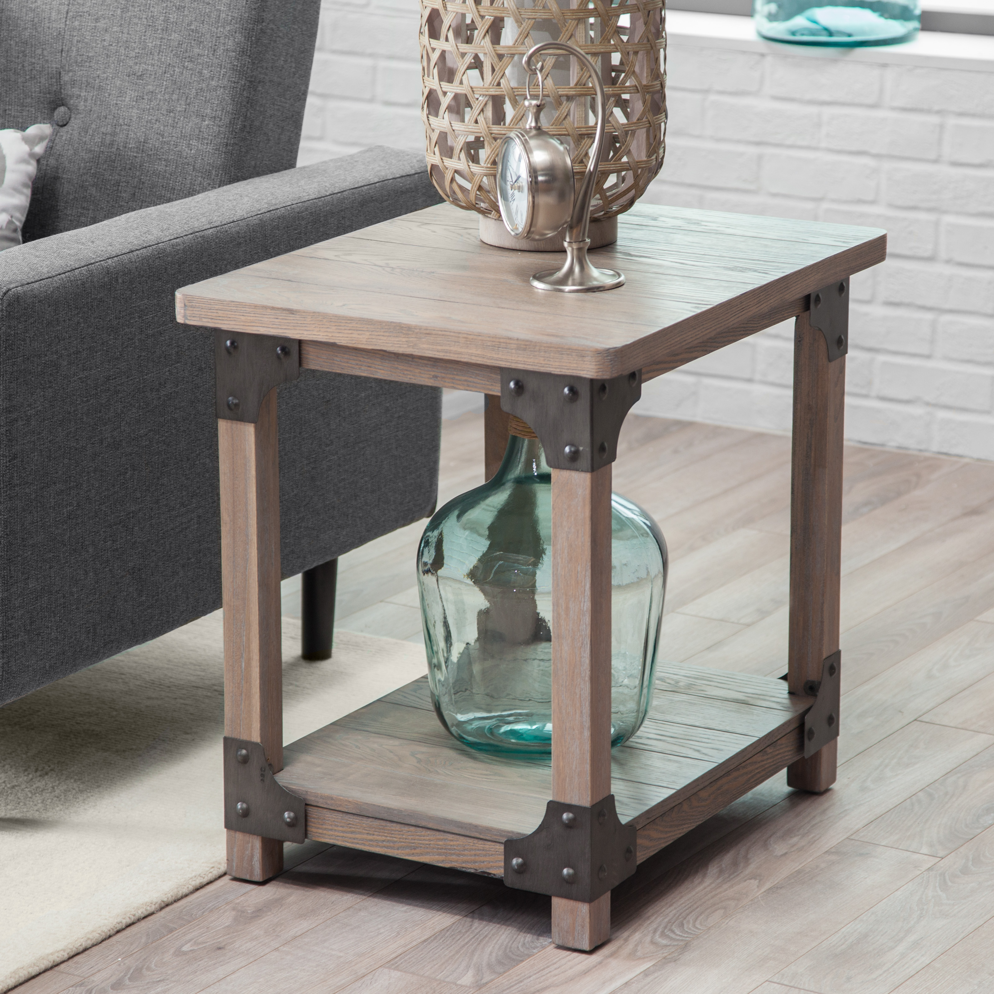 Belham Living Edison Reclaimed Wood Nesting Tables