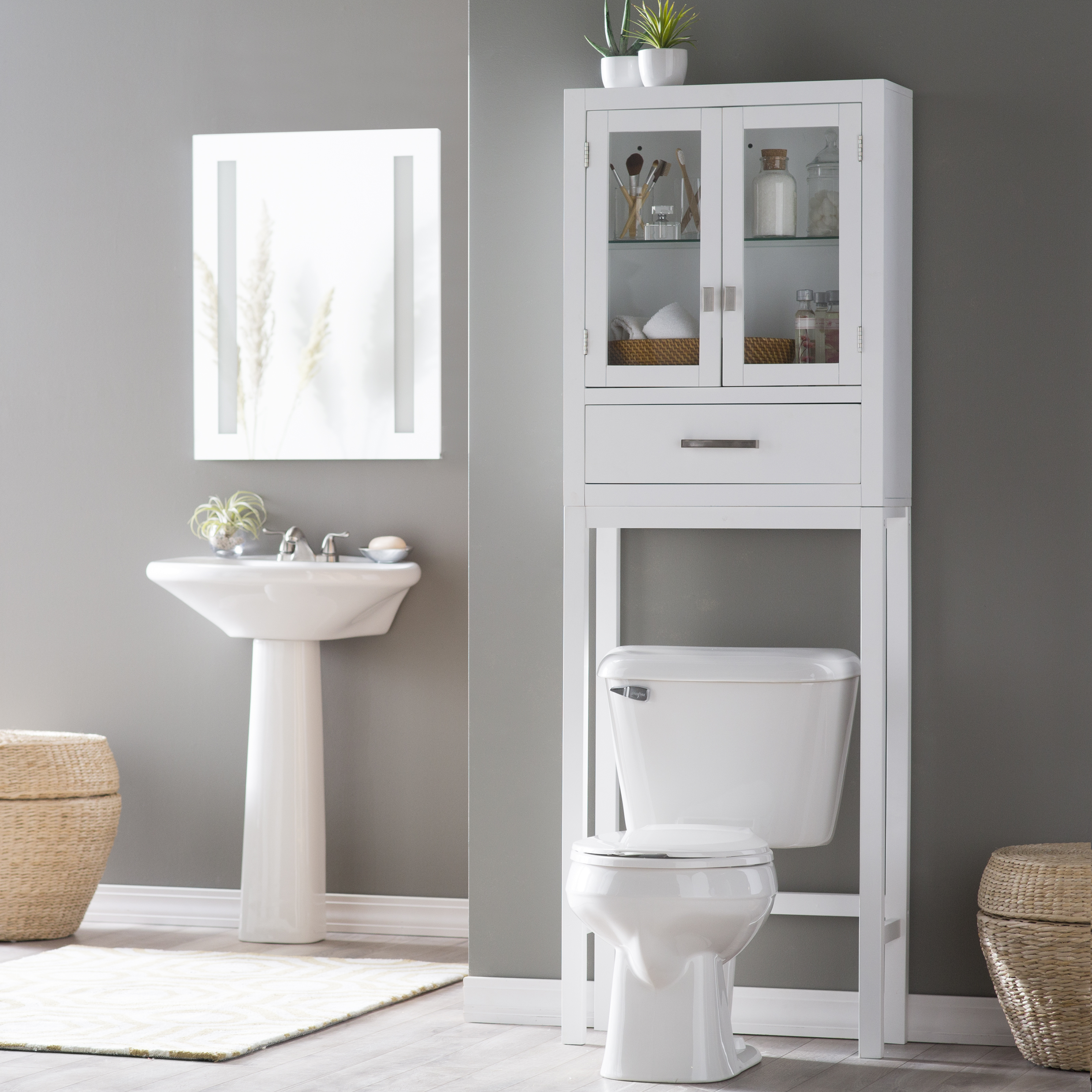 Belham Living Longbourn Over The Toilet Space Saver With Removable Legs