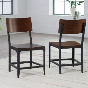 Metal Dining Chairs Industrial distressed & industrial style dining chairs | hayneedle