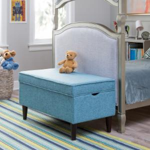 Classic Playtime Hannah Upholstered Storage Bench - Blue