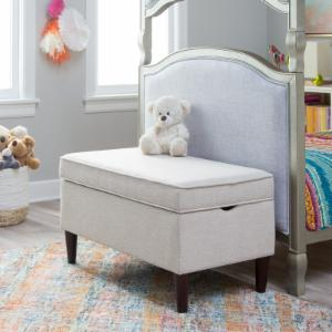 Classic Playtime Hannah Upholstered Storage Bench - Ivory