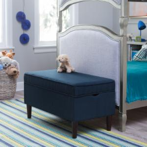 Classic Playtime Hannah Upholstered Storage Bench - Navy