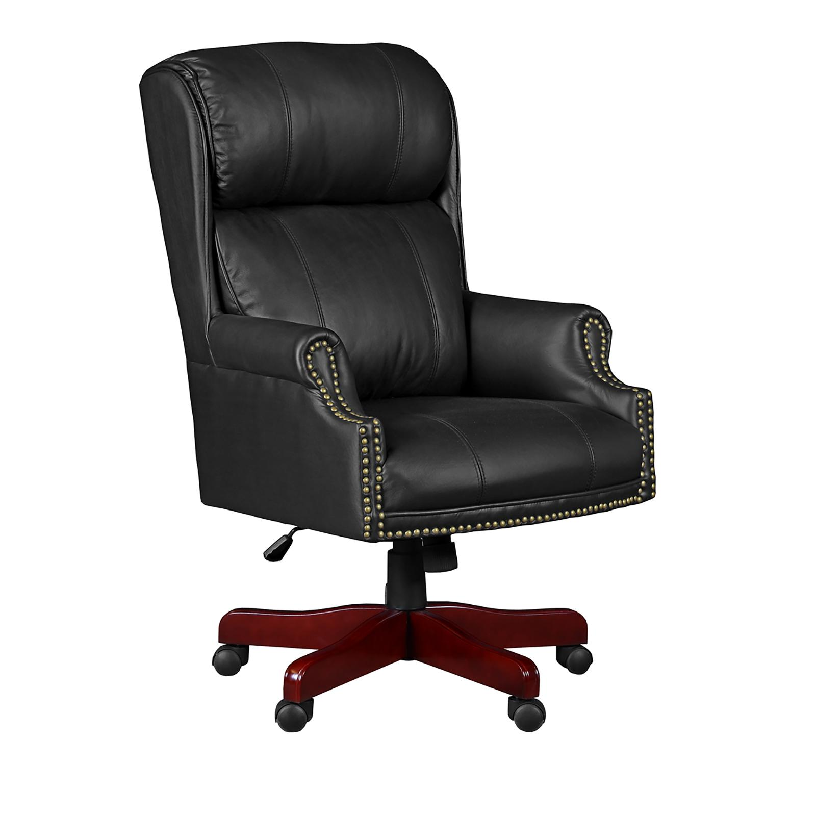 Regency Seating Barrington Height Adjustable Swivel Chair with Casters - Black Leather, 9099LBK