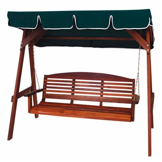 Great American Woodies Red Cedar Classic Swing & Stand Set with Canopy