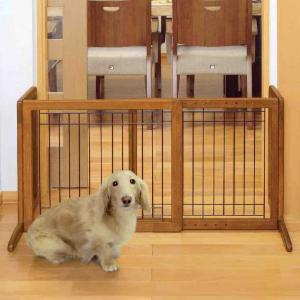 Richell 26-40 in. Wide Freestanding Pet Gate Small - 94135 - Autumn Matte