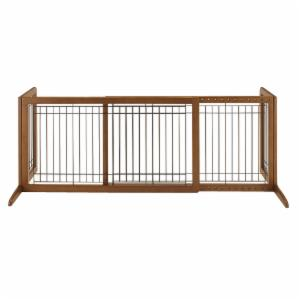 Richell 39-71 in. Wide Freestanding Pet Gate Large - 94136 - Autumn Matte
