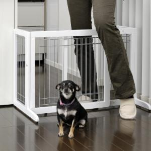 Richell 26-40 in. Wide Freestanding Pet Gate Small - 94156 - Origami White