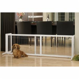 Richell 39-71 in. Wide Freestanding Pet Gate Large - 94157 - Origami White