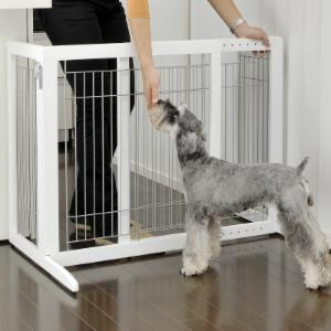 Richell 28 in. Wide High-Small Freestanding Pet Gate HS - Origami White