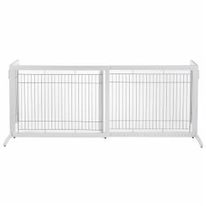 Richell Large Freestanding Pet Gate - Origami White