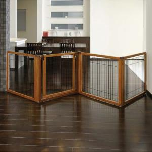 Richell Convertible Elite Pet Gate - 4 Panel - Autumn Matte