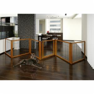 Richell Convertible Elite Pet Gate - 6 Panel - Autumn Matte