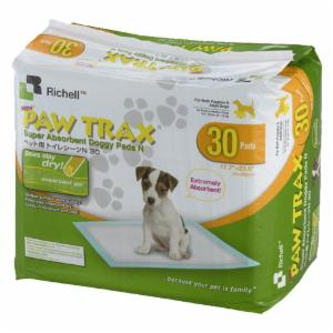 Richell Paw Trax Super Absorbent Doggy Pads - White