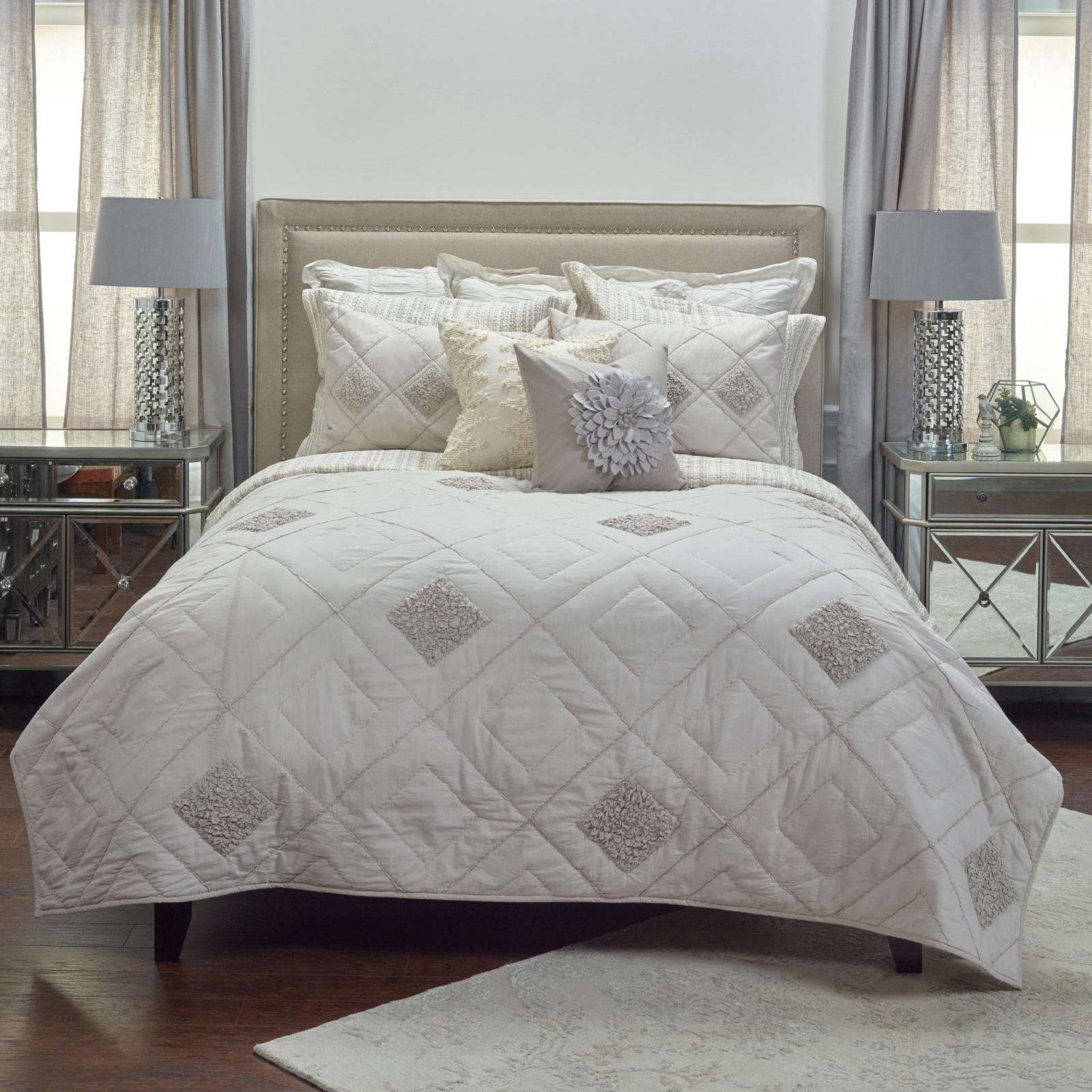 set wayfair and dusty co reversible ophelia comforter k piece hurley rose