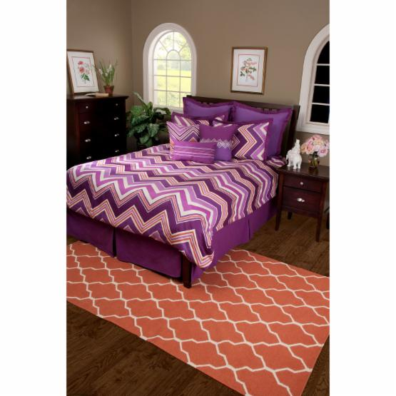 Rizzy Home Hippie Chic Plum Bed Skirt