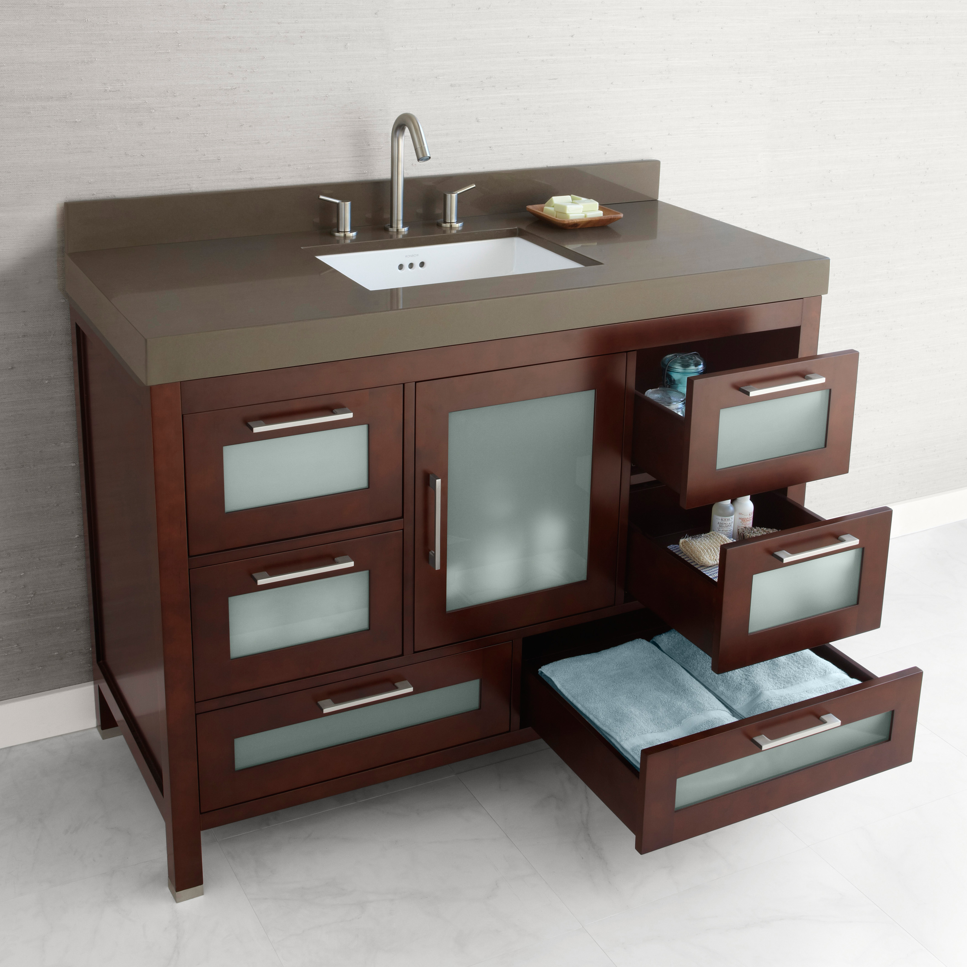 kitchen vanity cabinets ronbow 031548 athena 48 in single bathroom vanity with 3432