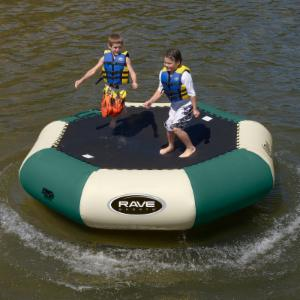 10 ft. RAVE Sports Northwoods Bongo Water Bouncer Package