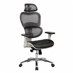 Techni Mobili Deluxe High Back Mesh Office Executive Chair with Neck Support