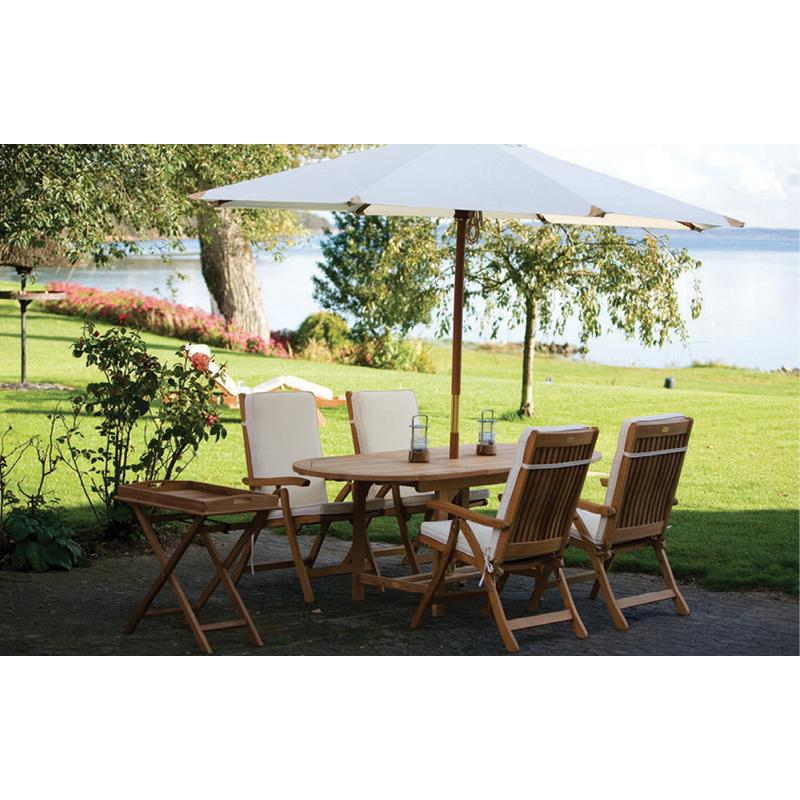Royal Teak Family Extension Table 6 Piece Patio Dining Se