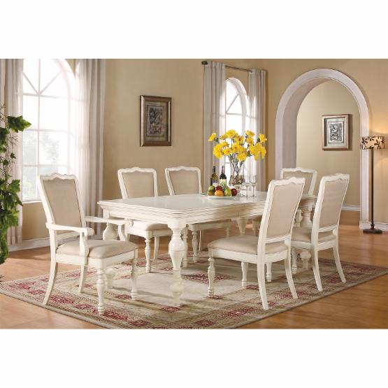 Riverside Placid Cove 7 Piece Rectangular Dining Set with Upholstered Chairs