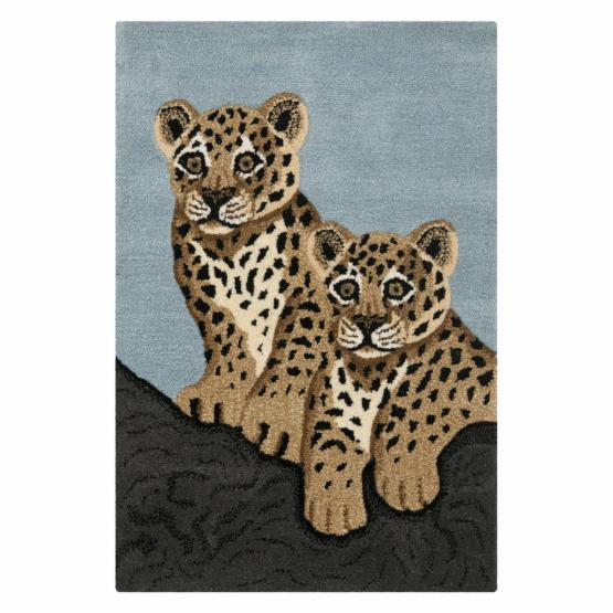 Safavieh WLD205A-2 Wilderness Rug - Blue / Charcoal - 2 x 3 ft.