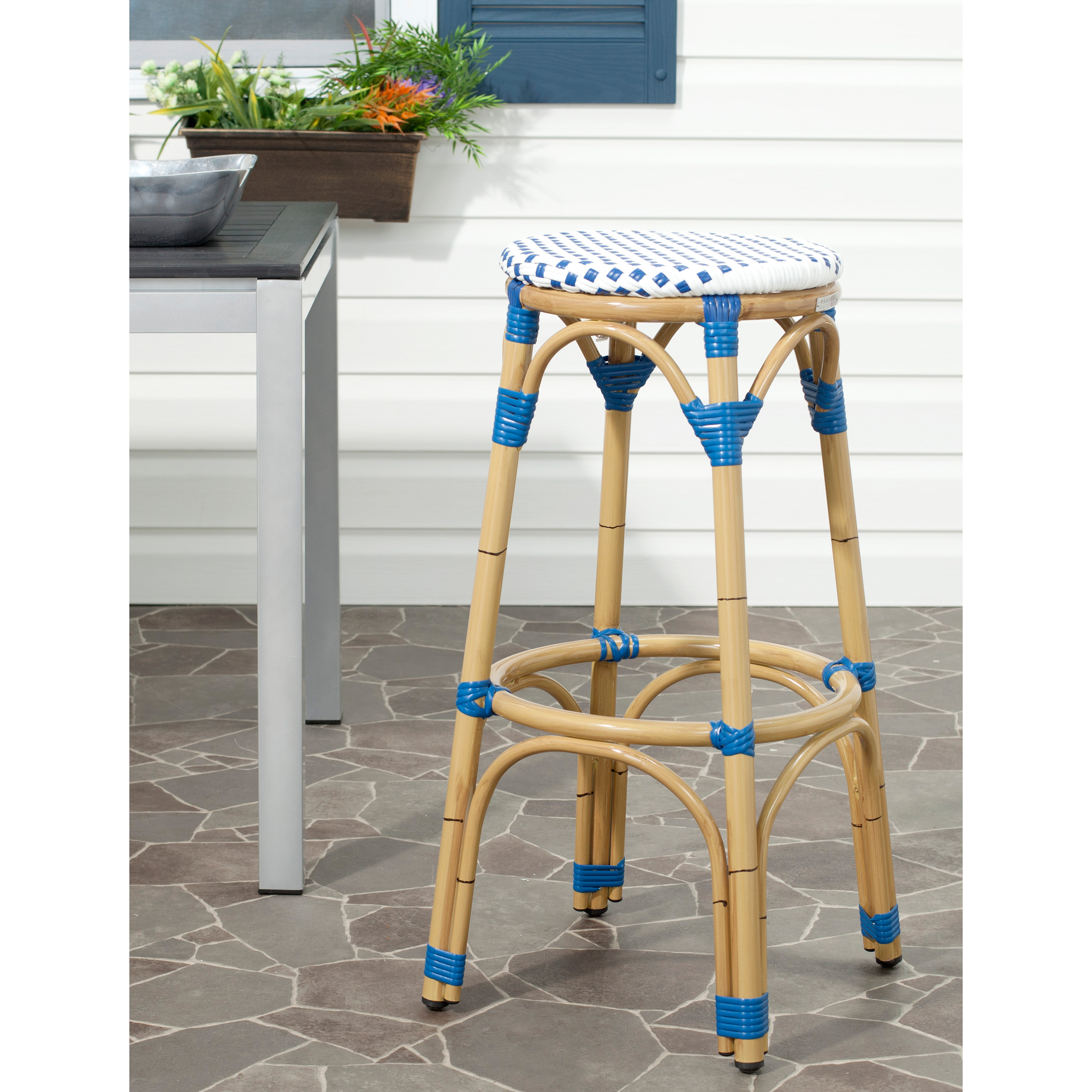 Safavieh Ford Indoor Outdoor Stacking French Bistro Bar Stool