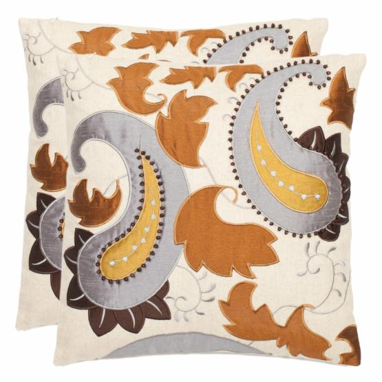 Safavieh Mayfair 18 In. Cream Decorative Pillows - Set of 2