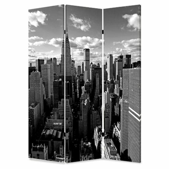 Screen Gems New York Skyline Canvas Double Sided Room Divider