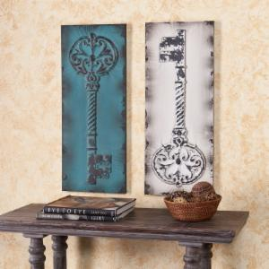 Antique Key Decorative Wall Panels - 12.5W x 31.25H in. each - Set of 2