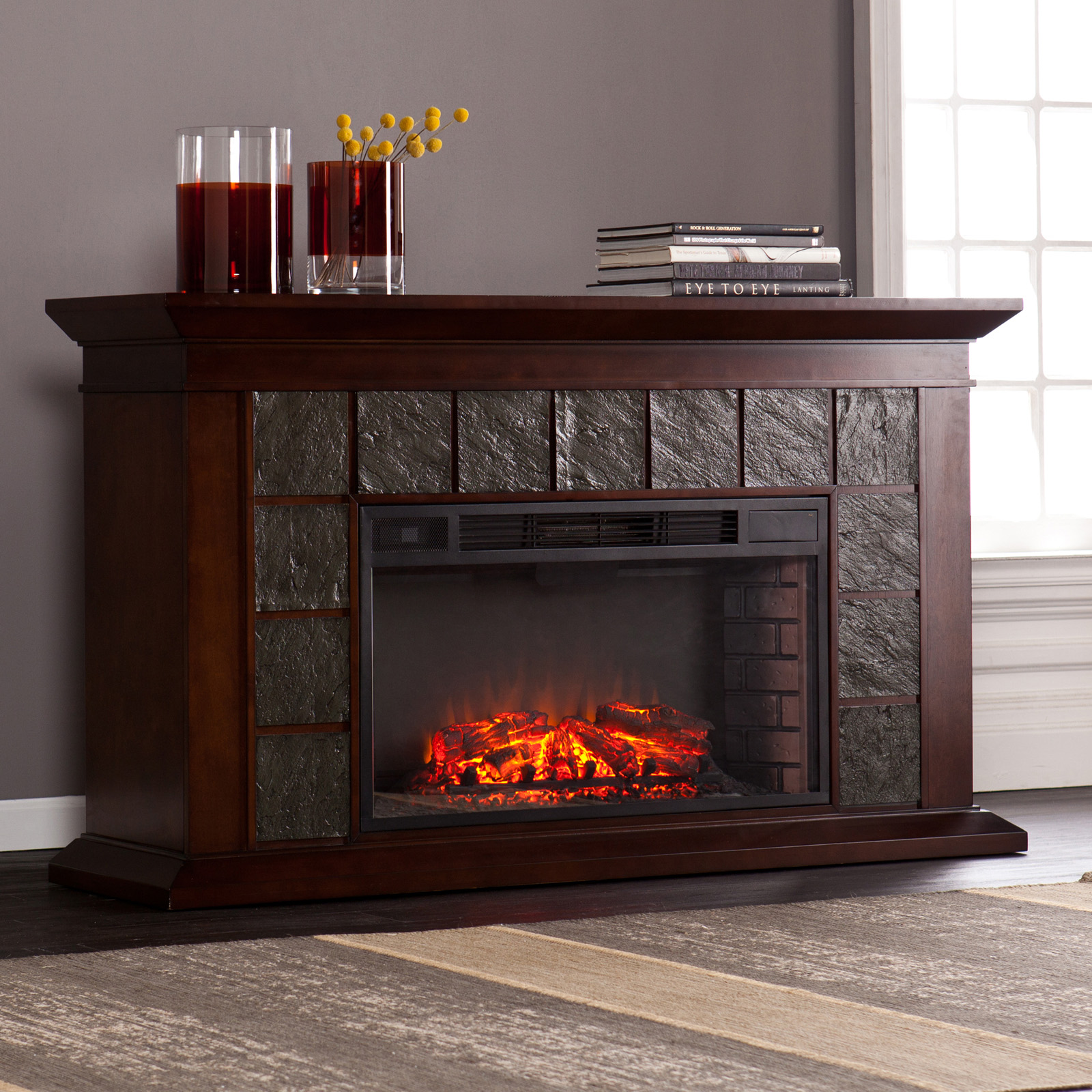 southern enterprises canyon heights electric fireplace hayneedle