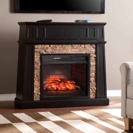 Southern Enterprises Crestwick Infrared Media Fireplace