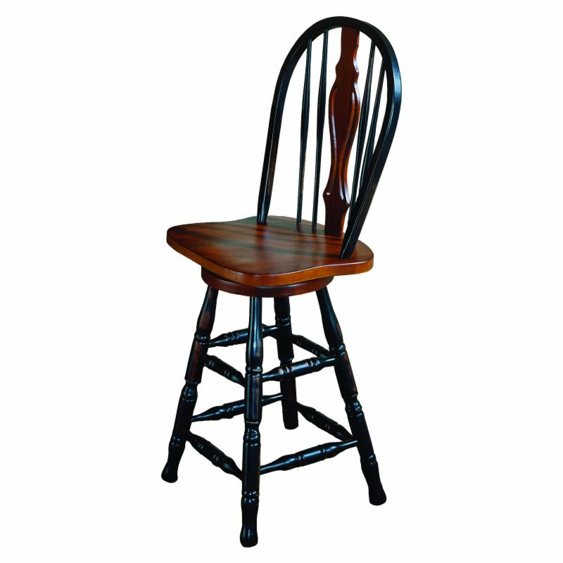 Sunset Trading Keyhole Swivel Counter Stool - 24 in. - DLU-B124-24-LO