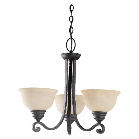 Sea Gull Serenity Chandelier - 25W in. Weathered Iron ENERGY STAR