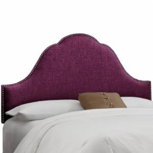Skyline Arch Nail Button Woven Upholstered Headboard