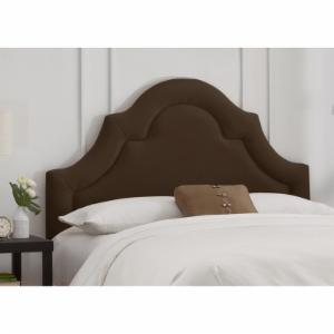 Arch Border Velvet Upholstered Headboard