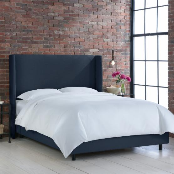 Wingback Upholstered Bed