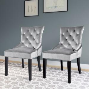 CorLiving Antonio Accent Chair - Gray - Set of 2