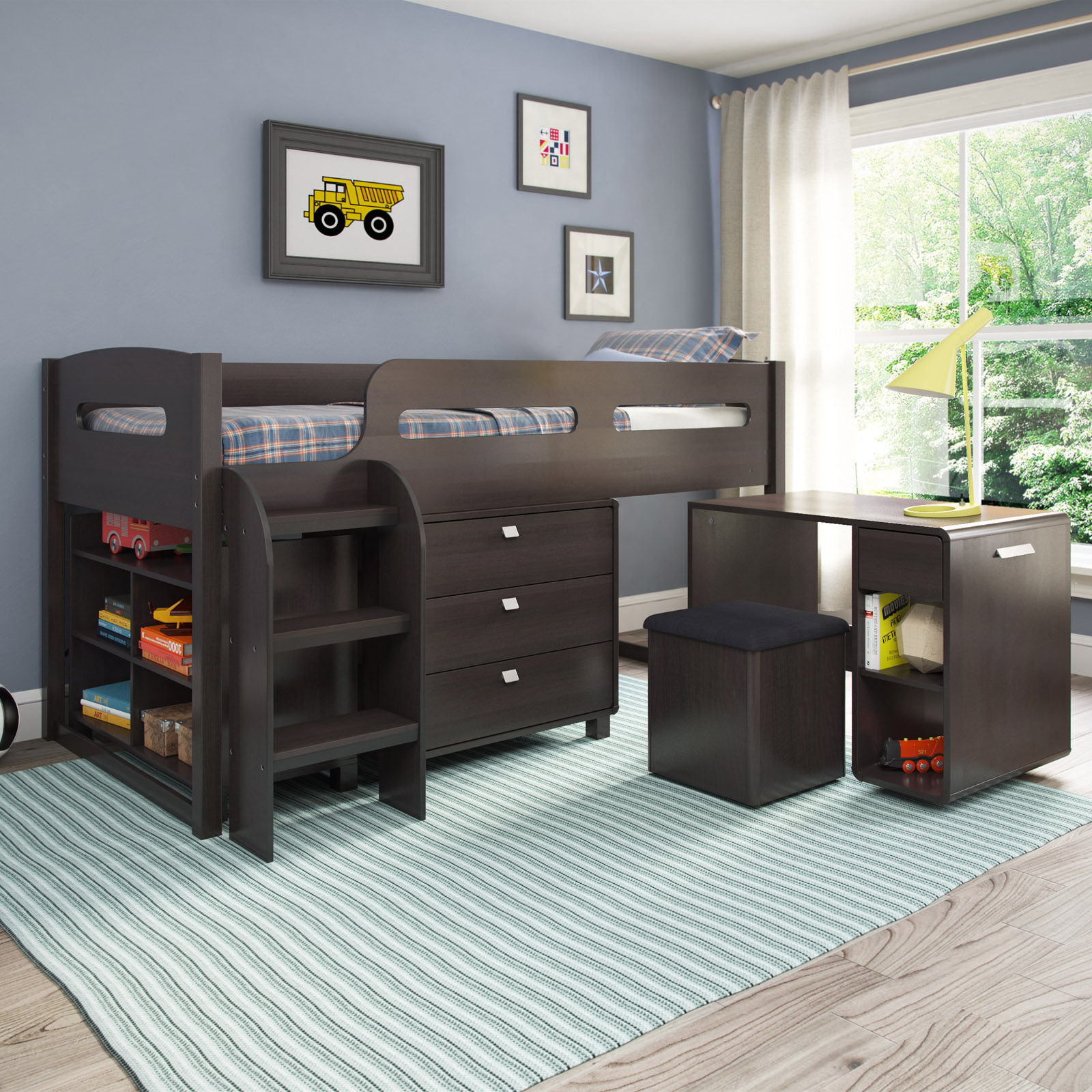 CorLiving Madison 5 Piece All in e Twin Loft Bed