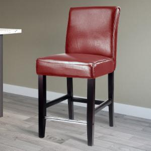 CorLiving Antonio Counter Height Bonded Leather Bar Stool