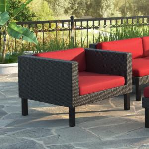 CorLiving Oakland Wicker Patio Lounge Chair
