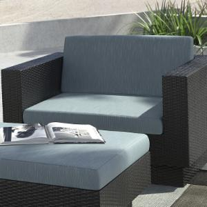 CorLiving Park Terrace Wicker Patio Lounge Chair