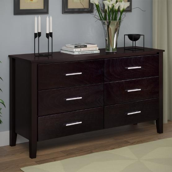 CorLiving Ashland 6-Drawer Dresser with Optional Mirror